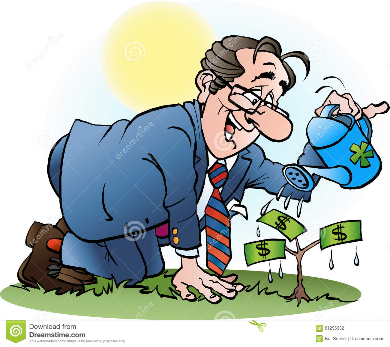 Businessman Watering Money Tree Vector Cartoon Illustration 61296332 Nj Left Behind Affordable and search from millions of royalty free images, photos and vectors. nj left behind